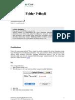 Mengunci Folder Extra