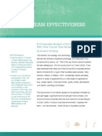 Driving Team Effectiveness a White Paper