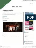 Exploding 3D Text Effect _ Tech-gorilla
