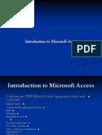 Intro MS Access