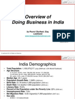 An Overview of Doing Business in India - July 2010