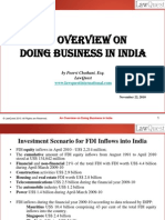 An Overview of Doing Business in India - Nov 2010