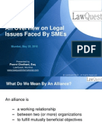 An Overview on Legal Issues Faced by SMEs