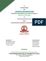 Magnetic Refrigeration Seminar Report