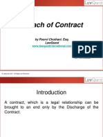 Damages for Breach of Contract - Sept 2011