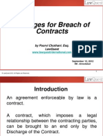 Damages for Breach of Contract - Sept 2012