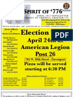 Vietnam Veterans of America Chapter 776 April 2013 Newsletter