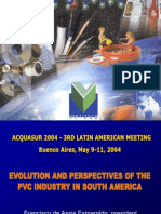 EVOLUTION AND PERSPECTIVES OF THE PVC INDUSTRY IN SOUTH AMERICA