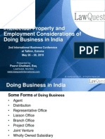IP and Employment Considerations of Doing Business in India