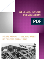 Social and Institutional Bases of Politics (1906-1947)
