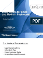 Legal Issues for Small and Medium Businesses