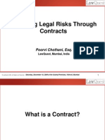 Mitigating Legal Risks Through Contracts