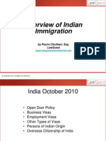 Process of Indian Immigration