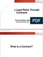 Reducing Legal Risks Through Contracts