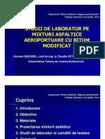Studii de Laborator Pe Mixturi Asfaltice Aeroportuare Cu Bitum Modificat [Compatibility Mode]