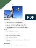 VFR Communication Notes