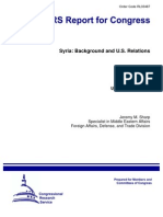 CRS Syria Background and US Relations