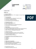 2012 Biologie Etapa Judeteana Subiecte Clasa a IX-A 0