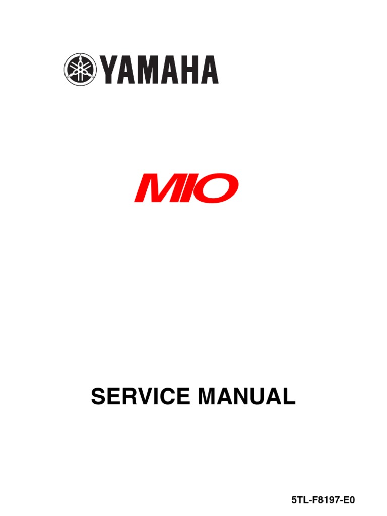 Yamaha mio service manual screw piston fandeluxe