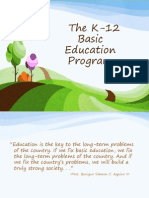 Understanding the K-12 Basic Education Program_updated 042312