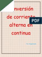 Conversion Corriente Alterna en Continua AC DC