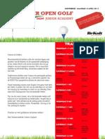 Ieper Open Golf DCM Junior Academy.