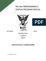 Algoritma Dan Pemograman 2 (Pascal)