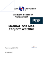 Guidelines for Mba Final Project