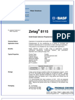 Chemicals Zetag DATA Powder Zetag 8115 - 0410