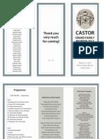 Castor Reunion Program