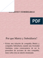 Presentacon Matrices y Subsidiarias Local