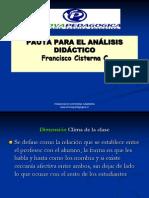 PAUTA PARA EL ANÁLISIS DIDÁCTICO
