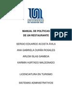 MANUAL DE POLÍTICAS trabajo final