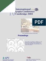 10 th International Myopia conference , Cambridge 2004  - abstract book