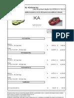 Lista de Preturi FORD Ka 15-01-2013