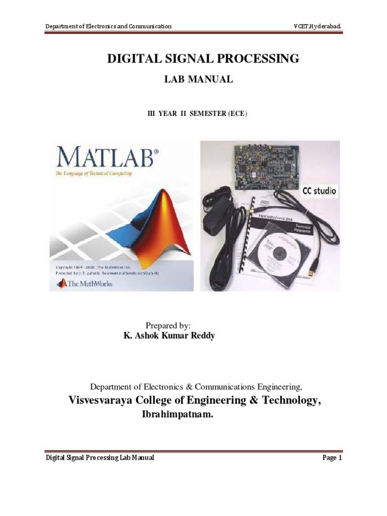 77974588-DSP-Lab-Manual-for-ECE-3-2-R09 | Discrete Fourier Transform |  Digital Signal Processor