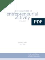 Kauffman Index of Entrepreneurial Activity, 1996-2007