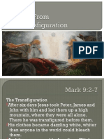 Lessons From the Transfiguration