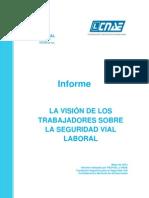 Vision Trabajadores Sobre La Seguridad Vial Laboral
