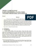 Novel Gadis Pantai Karya Pramoedya Ananta Toer Analisis Struktural Levi Strauss Siminto