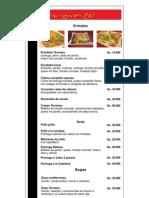 Carta de Terraneo - Resto, Café & Bar