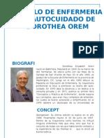 Modelo de Enfermeria de Autocuidado de Dorothea Orem