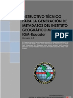 Instructivo Metadatos Igm