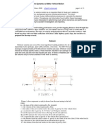 Automotive Dynamics of Vehicle Motion 4 2008