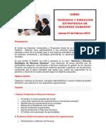 CEUPS 2013 Gerencia y Direccion Estrategica de Recursos Humanos