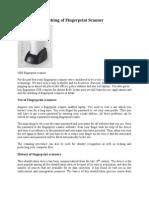 Working of Fingerprint Scanner