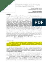 IMPACTO DA RELAÇÃO ENTRE MARGEM DE LUCRO E PISCOFINS NAS 15