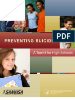 Preventing Suicide a Toolkit for High Schools