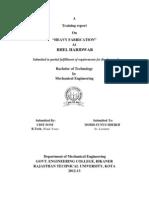BHEL Haridwar block 2 heavy fabrication, training report