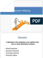 Decision Making, CBMC, Consumer Behaviour in Decision Making
